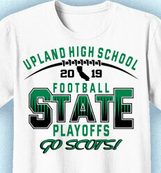 Football T-Shirt Designs - Football State Playoffs - idea-51f1