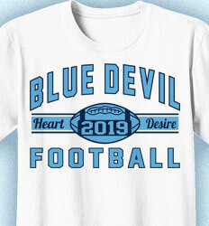 Football T-Shirt Designs - Collegiate Heater - desn-353j4