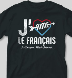 French Club Shirt Designs -  Heart Arrow cool-484h2