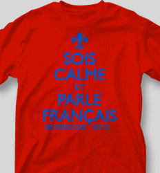 French Club Shirt Designs - Keep Calm desn-613o7