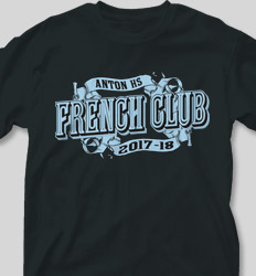French Club Shirt Designs - Senior Lesson cool-405s4