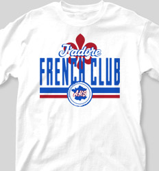 French Club Shirt Designs - USA Vintage clas-965v5