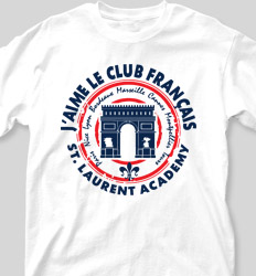 French Club Shirt Designs - Arc De Triomphe cool-479a1
