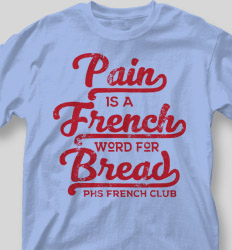 French Club Shirt Designs - Class Best cool-350c4