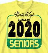 High School Shirts - Class 2020 Label - idea-35c1