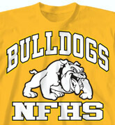 High School Shirts - Academic Mascot - desn-575a5
