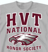 High School Shirts - Honor Society Collegiate - idea-99h1