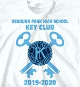 High School Shirts - Dual Key Logo - idea-151d1