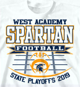 High School Shirts - State Playoffs Field - idea-52s1