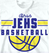 High School Shirts - Retro Basketball - cool-796r1