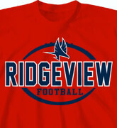 High School Shirts - Football Simple Logo - idea-56f2