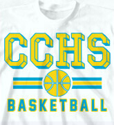 High School Shirts - Retro Basketball - cool-801r1