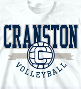 High School Shirts  - College V-Ball Logo - idea-231c1
