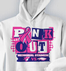 School Sweatshirts - Pink Out Game - cool-719p1