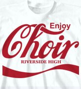 High School T-Shirts - Choir Brand - desn-900c2