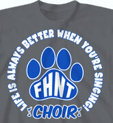 High School T-Shirts - Choir Life is Better - cool-747c1