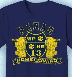 Homecoming Shirt Designs  - Panther Crest - clas-940p6