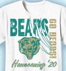 Homecoming T Shirt - Collegiate Heater desn-353d9