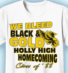 Homecoming T Shirt - Message clas-770n2