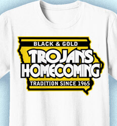 Homecoming T Shirt - Bleed Colors cool-8b1
