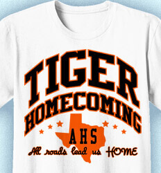 Homecoming T Shirt - Mascot Fashion clas-590p5