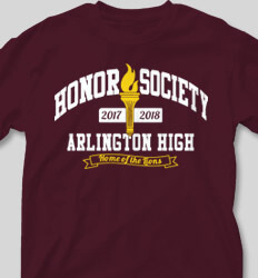 Honor Society Shirt Designs Collegiate Heater desn-353h1