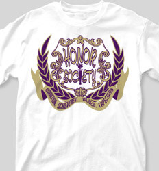 Honor Society Shirt Designs Crest Eighty clas-942c8