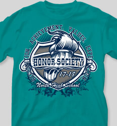 Honor Society Shirt Designs Titan Torch clas-720t5