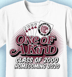 Ideas for Homecoming Shirts - One of A Kind Reunion - cool-981o4