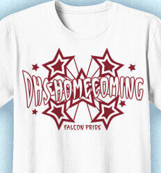 Ideas for Homecoming Shirts - Funky Stars - clas-382j2