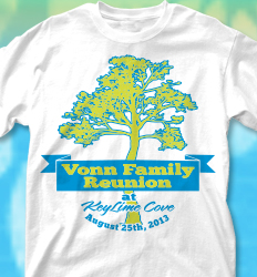KeyLime Cove Shirt Design - Reunion Tree Banner desn-706r3