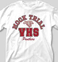 Mock Trial Shirts - Big Letter desn-351m3