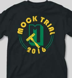 Mock Trial Shirts - Simple Letter desn-903s6