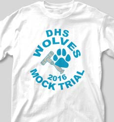 Mock Trial Shirts - Vista Paw desn-225v4