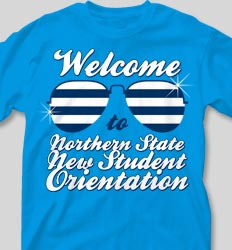 New Student Orientation T Shirts - Shades of Summer desn-361t6
