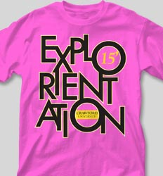 New Student Orientation T Shirts - Explorientation cool-108e1