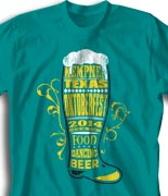Oktoberfest T Shirt  - Boot and Beer desn-822b1