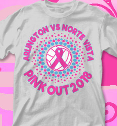 Pink Out Shirt Designs - Radiate Pink - cool-723r1