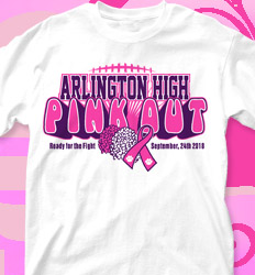 Pink Out Shirt Designs -  Pink Out Cheer - cool-716p1