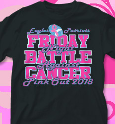 Pink Out Shirt Designs - Friday Night Pink - cool-718f1