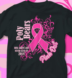 Pink Out Shirt Designs - Cares Ribbon - cool-134c4
