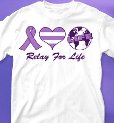 Relay for Life Shirt Designs - Relay Love cool-565r1