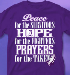 Relay for Life Shirt Designs - Peace for the Survivors cool-572p2