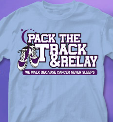 Relay for Life Shirt Designs - Pack the Track cool-568p1