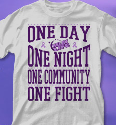 Relay for Life Shirt Designs - Cure Cancer desn-777c2