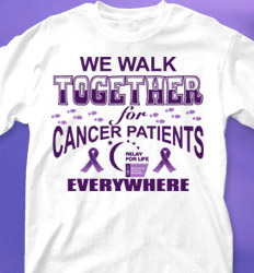Relay for Life Shirt Designs - We Walk Together cool-569w1