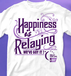 Relay for Life shirt designs - Happy Relaying cool-369h1