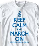 School Band Shirts - Keep Calm desn-613n1