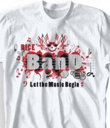 School Band Shirts - Happy Singers desn-127h4