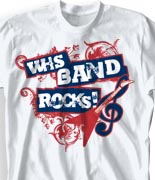 School Band Shirts - Rockin clas-801r9
